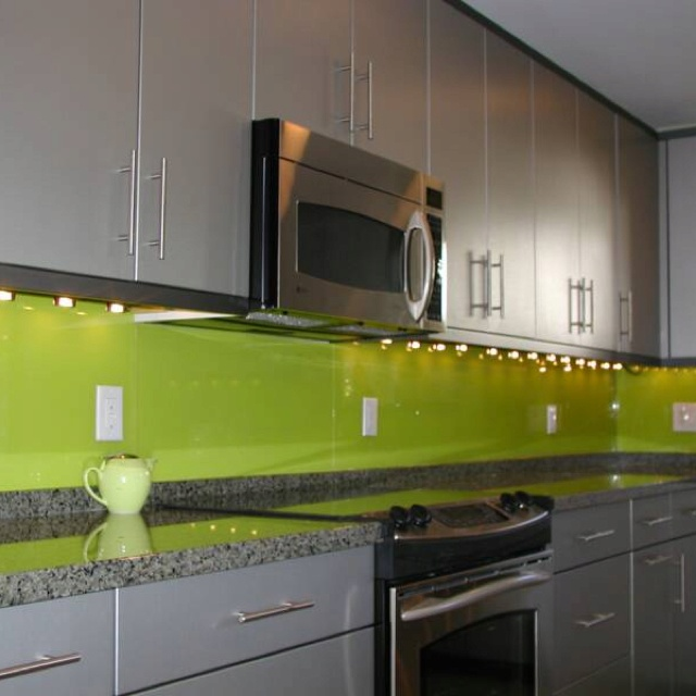 Painted glass backsplash glass inspiration pinterest for Painted kitchen backsplash designs