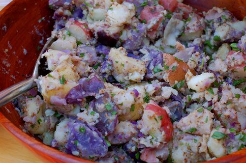 Red, White & Blue Potato Salad... Perfect for 4th of July