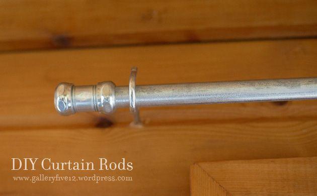 curtain rod from metal conduit | DIY | Pinterest