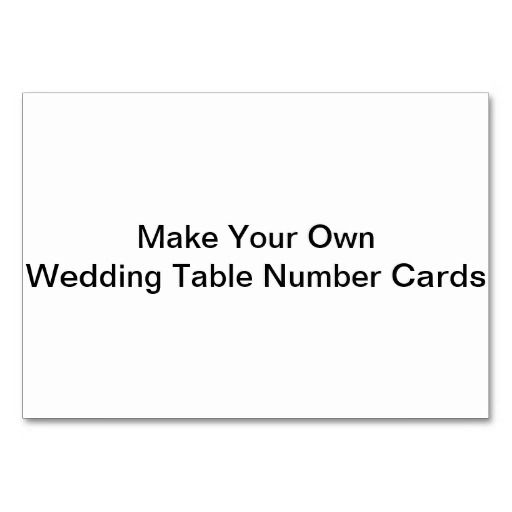Make Your Own Wedding Table Number Cards