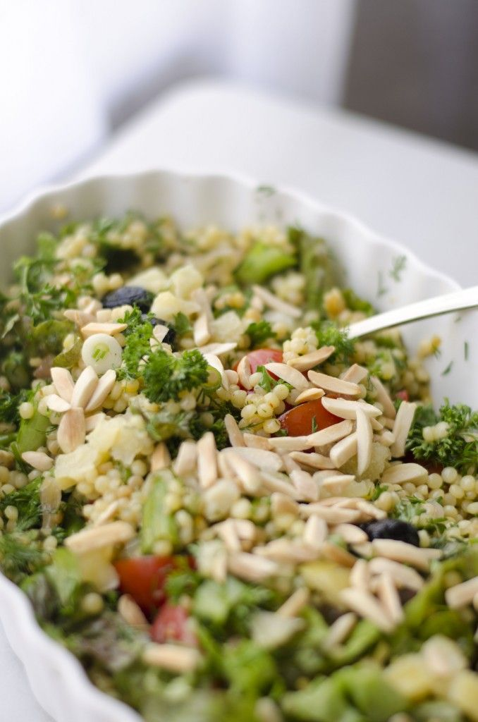 This Spring Herb and Asparagus Couscous Salad utilizes the season's ...