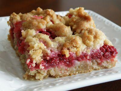 Raspberry Crumb Bars | Sweet | Pinterest