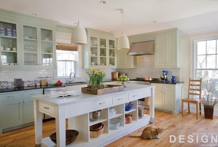 Celadon green cabinets http  digital designnewengland com