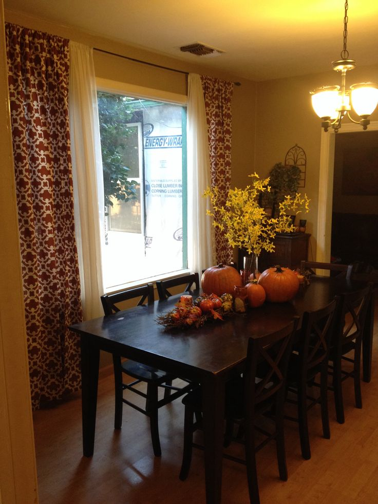 Fall dining room decor fall pinterest for Dining room accessories