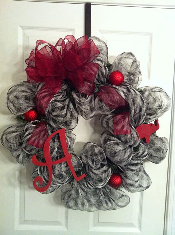 University of Alabama deco mesh wreath 25 inches by coxwreaths, $45.00