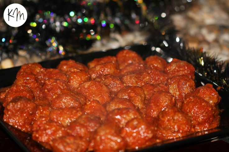 Cocktail meatballs. Party food.