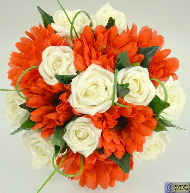 Orange Gerbera Wedding Flowers