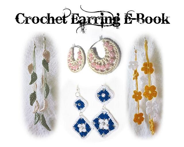 Ravelry: Thread Crochet Earring E-Book pattern by Leah Spell