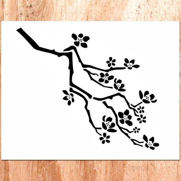 Cherry Blossom Small Stencil