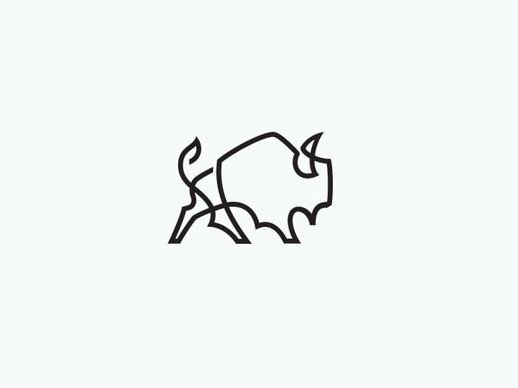 Bison logo designs