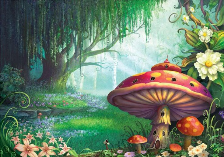 Enchanted forest mural inspiration a whimsical for Mural inspiration
