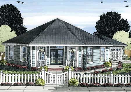 Octagonal cottage home plan for Octagon cabin plans