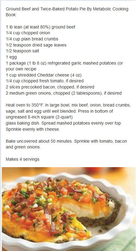 GROUND BEEF AND TWICE BAKED POTATO PIE | RECIPES FOR ME | Pinterest