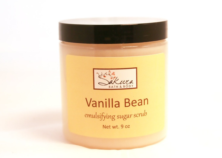 Vanilla Bean Sugar Scrub - Scented Emulsifying Scrub for Body and Feet ...