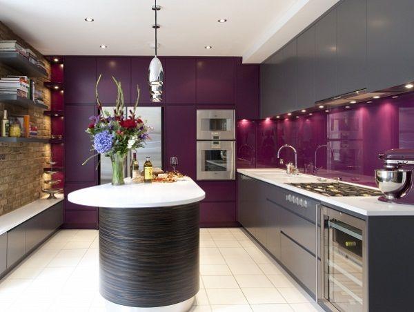 Best Purple And Grey Kitchen Home Garden Pinterest 400 x 300