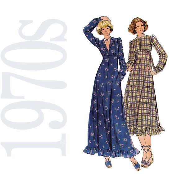 Original Vintage 193039s Women39s Dress Pattern Simplicity 2476