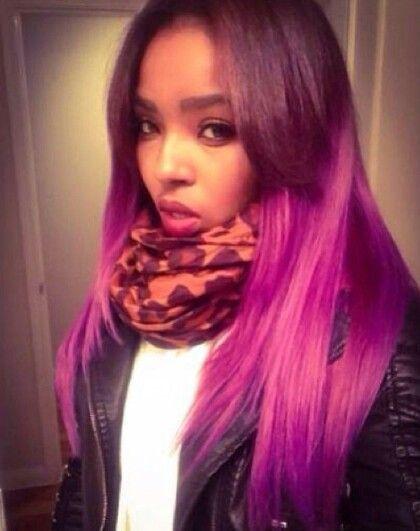 Black Girls with Mermaid Hair Color