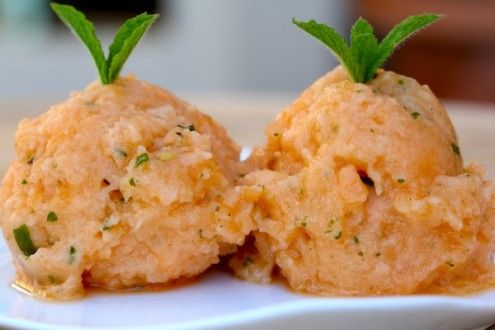 Cantaloupe Mint Granita - Honest Cooking