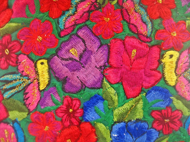 Inspiration  Mexican Flower Embroidery  Embroidery And