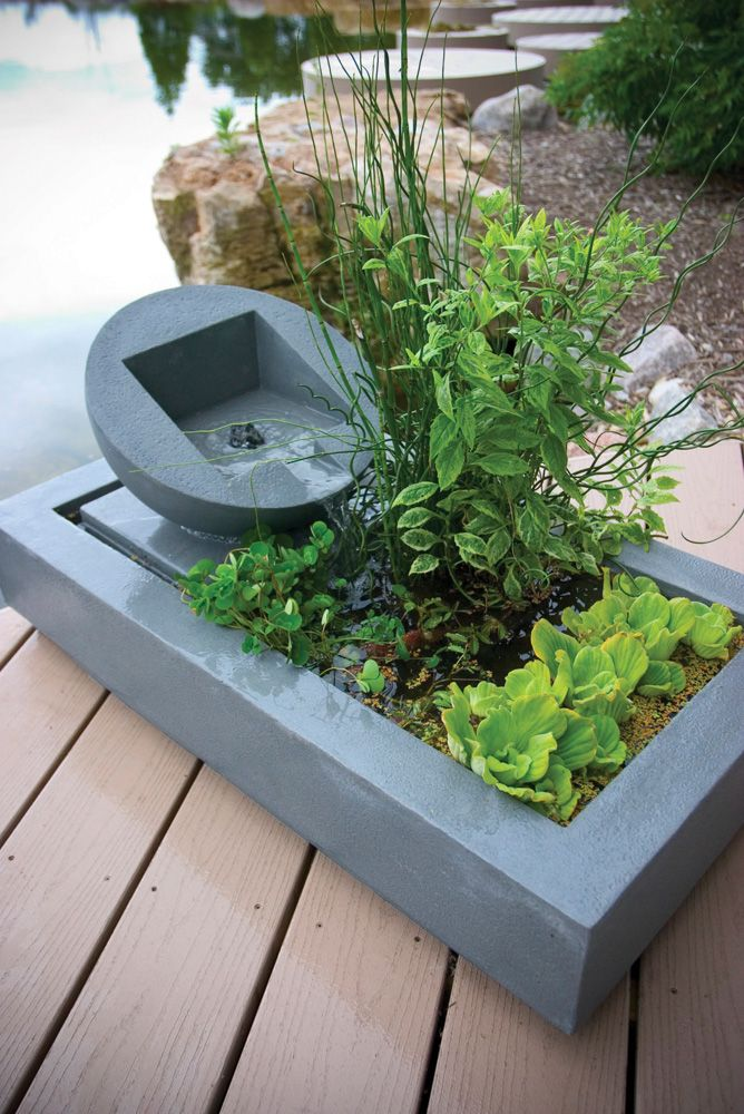 Modern balcony water feature design small balcony for Balcony features