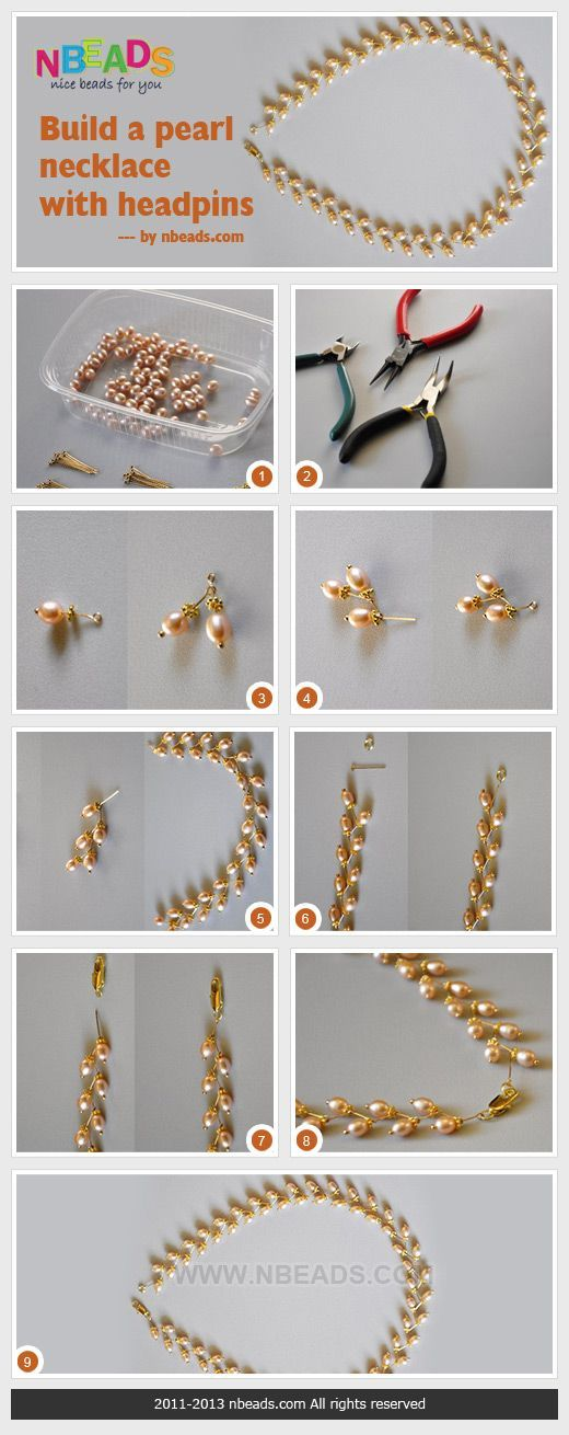 diy pearl necklaces