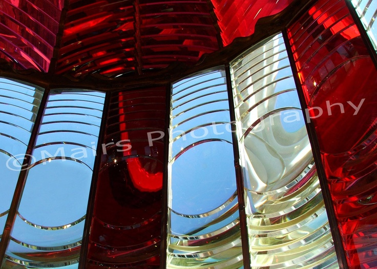 RED, White & BLUE Glass, Oregon Lighthouse Fine Art Photography