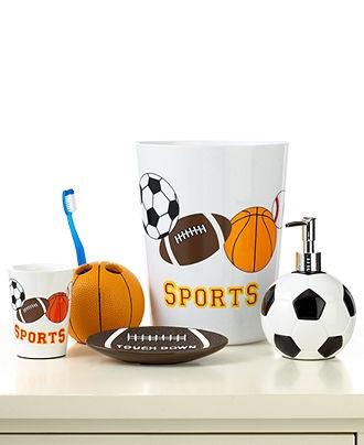 Sports accessories boys room bath pinterest