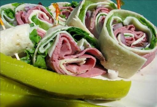 Roast Beef and Swiss Tortilla Roll-Ups | Awesome Appetizers And Pot L ...