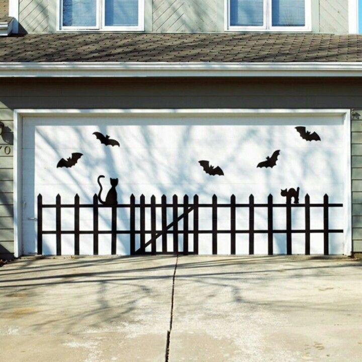 Garage Doors Dekoration : Garage decor halloween deco only the