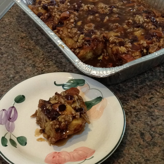 ... flair to make this decadent chocolate caramel hazelnut bread pudding