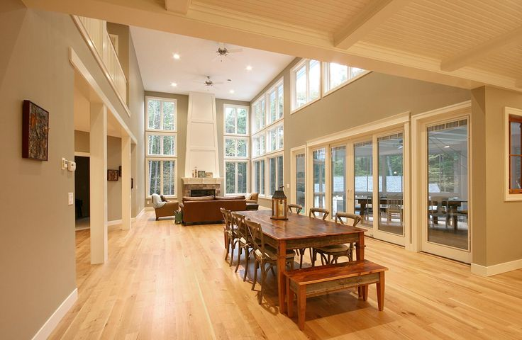 Cottage Home Open Floor Plan Lofty Pinterest