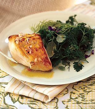 Sauteed Black Cod with Shallot-Lemon Vinaigrette and Fresh Herb Salad ...