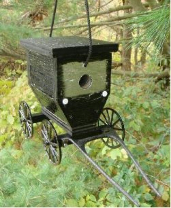 Amish buggy birdhouse.