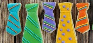 father's day tie cookies