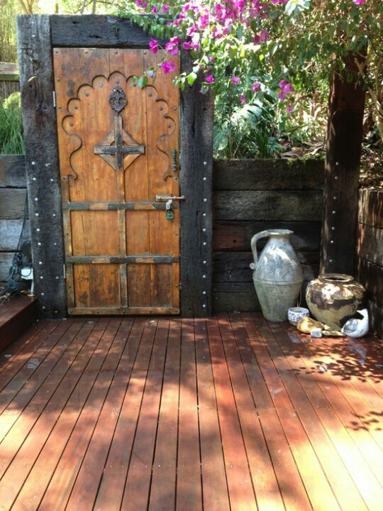 how to make gothic doors for secret garden