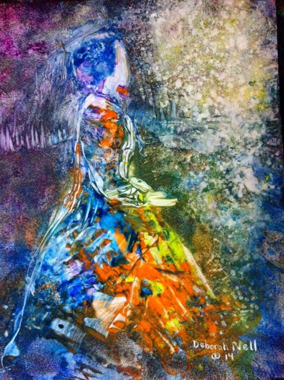 Colorful contemporary prophetic painting of by expressivepaintings