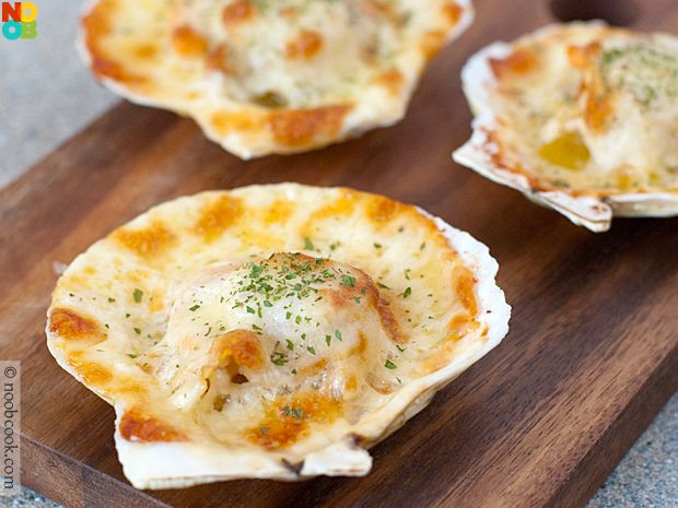 Baked Cheese Scallops Recipe | Noob Cook Recipes | Pinterest