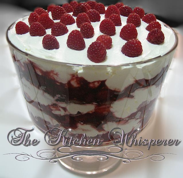 ... Kitchen Whisperer Raspberry Brownie Triffle with Mascarpone filling
