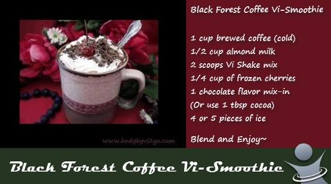 Black Forest Cherry ViSalus Shake | Visalus Shakes | Pinterest
