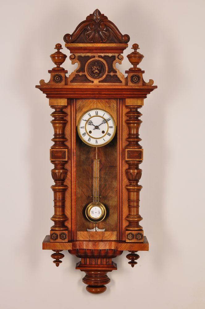 Fantastic antique german pendulum wall clock approx1890 for German pendulum wall clocks