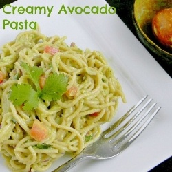 Creamy Avocado Pasta ♦ Just Avocado, that's all you need for this ...