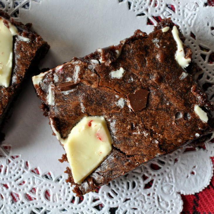 Peppermint Bark Brownies III Recipe | All Things Yummy | Pinterest