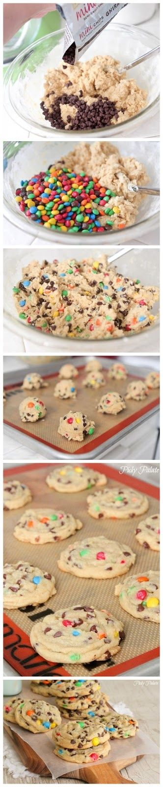 How To Make Perfect M and M Cookies   yummy goodies i want in my tumm ...