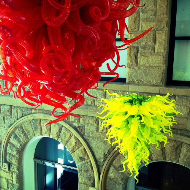 Chihuly sculptures at the San Jose Museum of Art