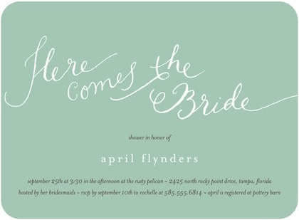 ... at Costco: Signature White Bridal Shower Invitations Cute Calligraph