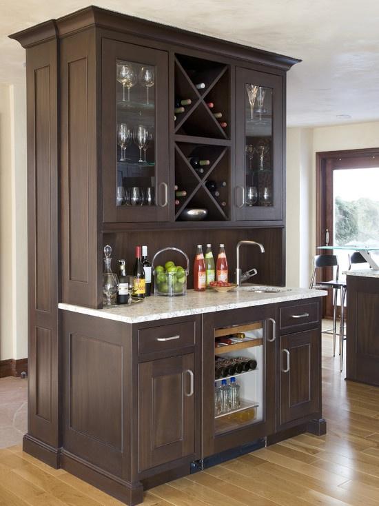 Wet bar wine storage bar pinterest for Wet bar remodel