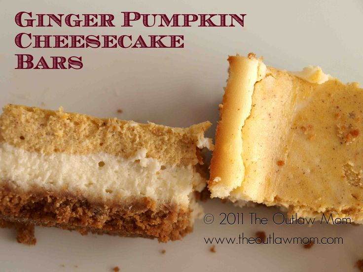 ginger pumpkin cheesecake bars | pumpkin for my punkin | Pinterest