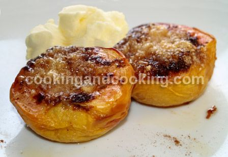 Baked Peaches with Almond - substitute with vegan margarine instead of ...