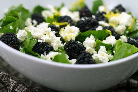 Blackberry and Feta Salad | Salads | Pinterest