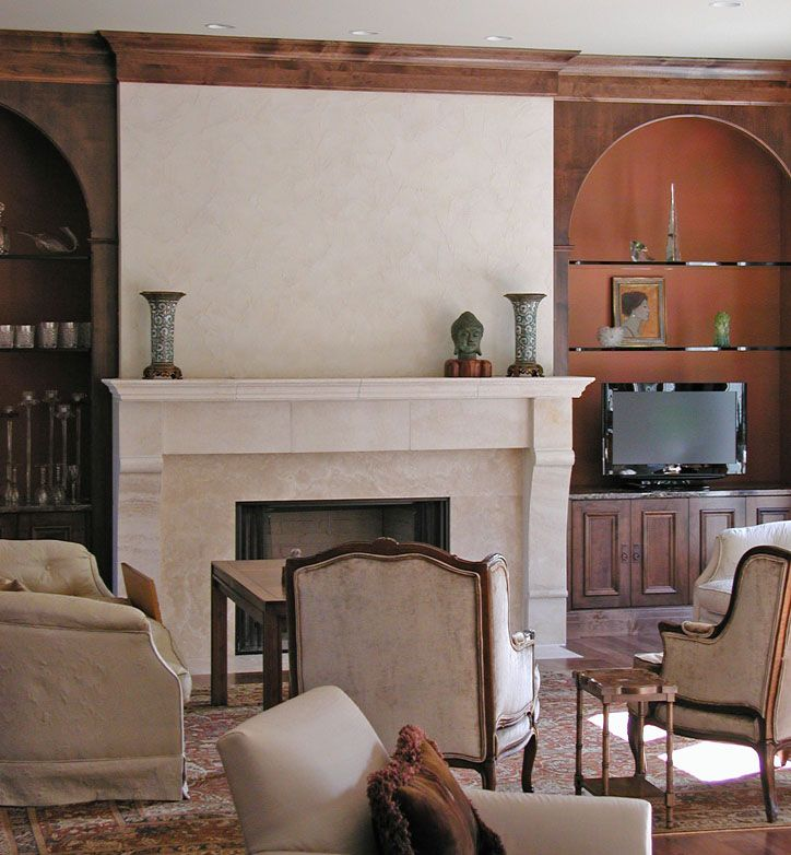 Stucco Fireplace For The Home Pinterest